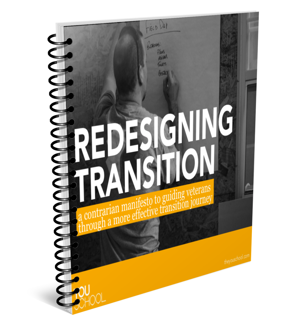We have a free e-book about transitioning better - It can turn your life upside down, but it doesn't have to. Transition can be your biggest opportunity to reimagine your future.
