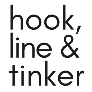Hook, Line & Tinker - modern embroidery kits