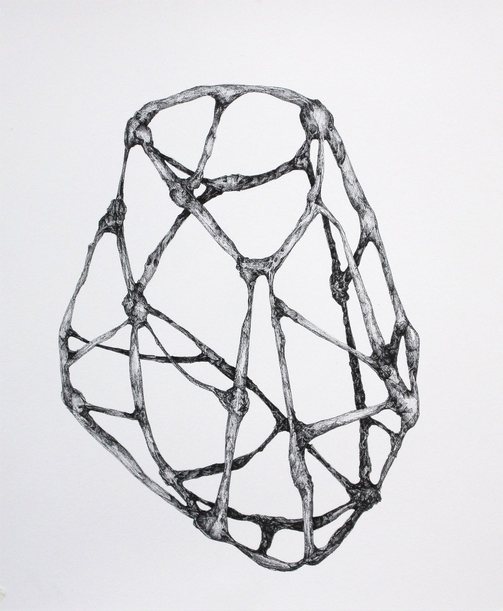09_LisaKellner_Structures #5_Ink on Paper_12 x 12 inches_$200.JPG