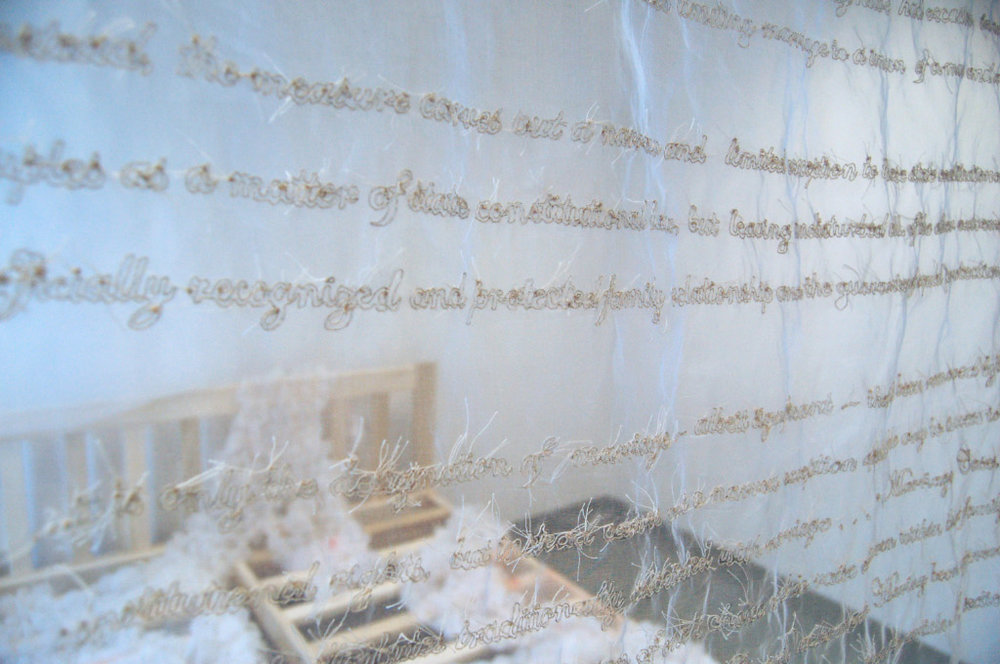 A Proposition Ate My Marriage   Room-sized Sculptural Installation Lisa Kellner Lower Manhattan Cultural Council Swing Space Residency