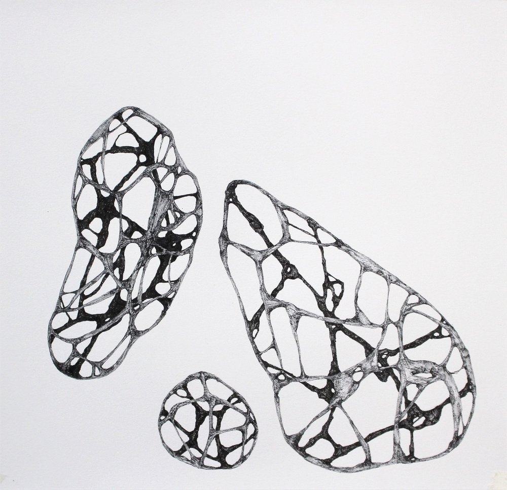 Drawing in three dimensions on a flat surface. - The