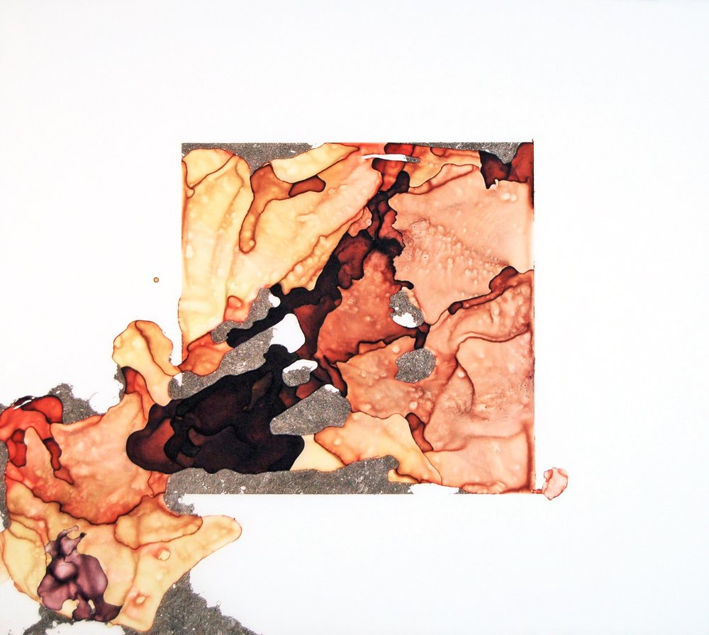 In Time of Lilacs   Lisa Kellner Raw Pigment, Ink and Ink Drawing on Mylar 22 x 25 inches  Available at   Buy Some Damn Art   .