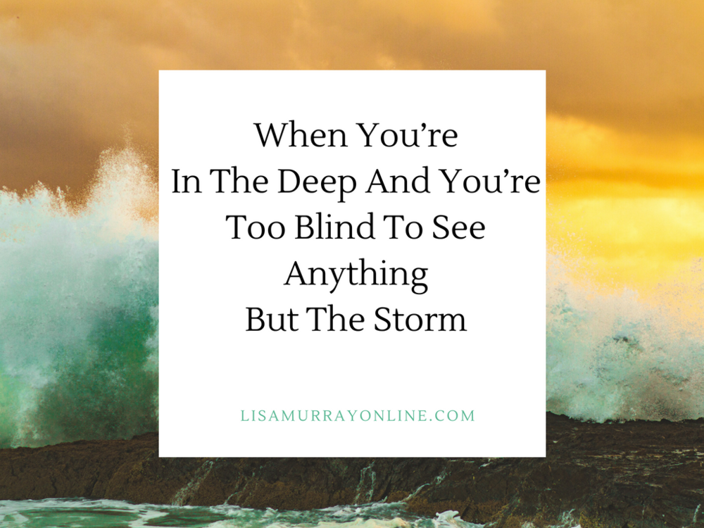 When You're In the Deep and You're Too Blind To See Anything But the Storm