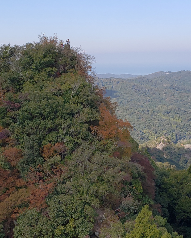 Note the nature of the terrain: steep, forested, with autumn colors just beginning to pop.