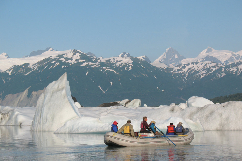 Paddling on Lake Alsek, 2009
