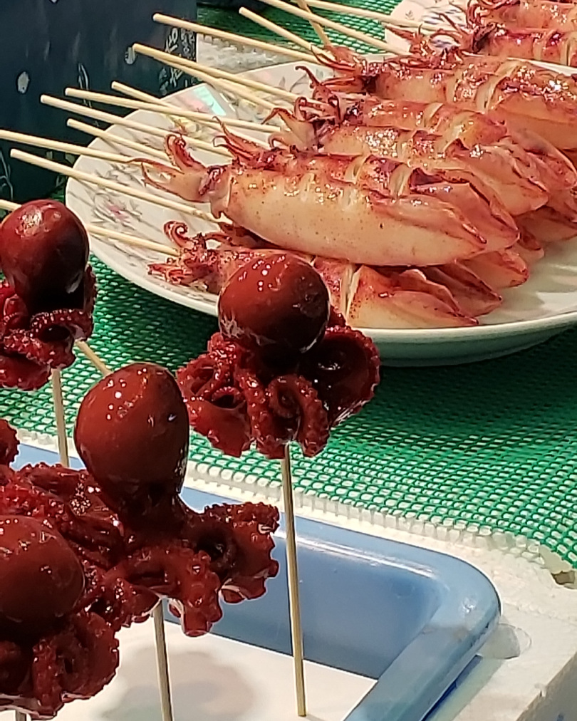 How about octopus on a stick? Or squid?