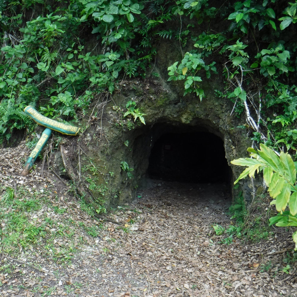 The entrance to Thousand Men Cave on Peleliu