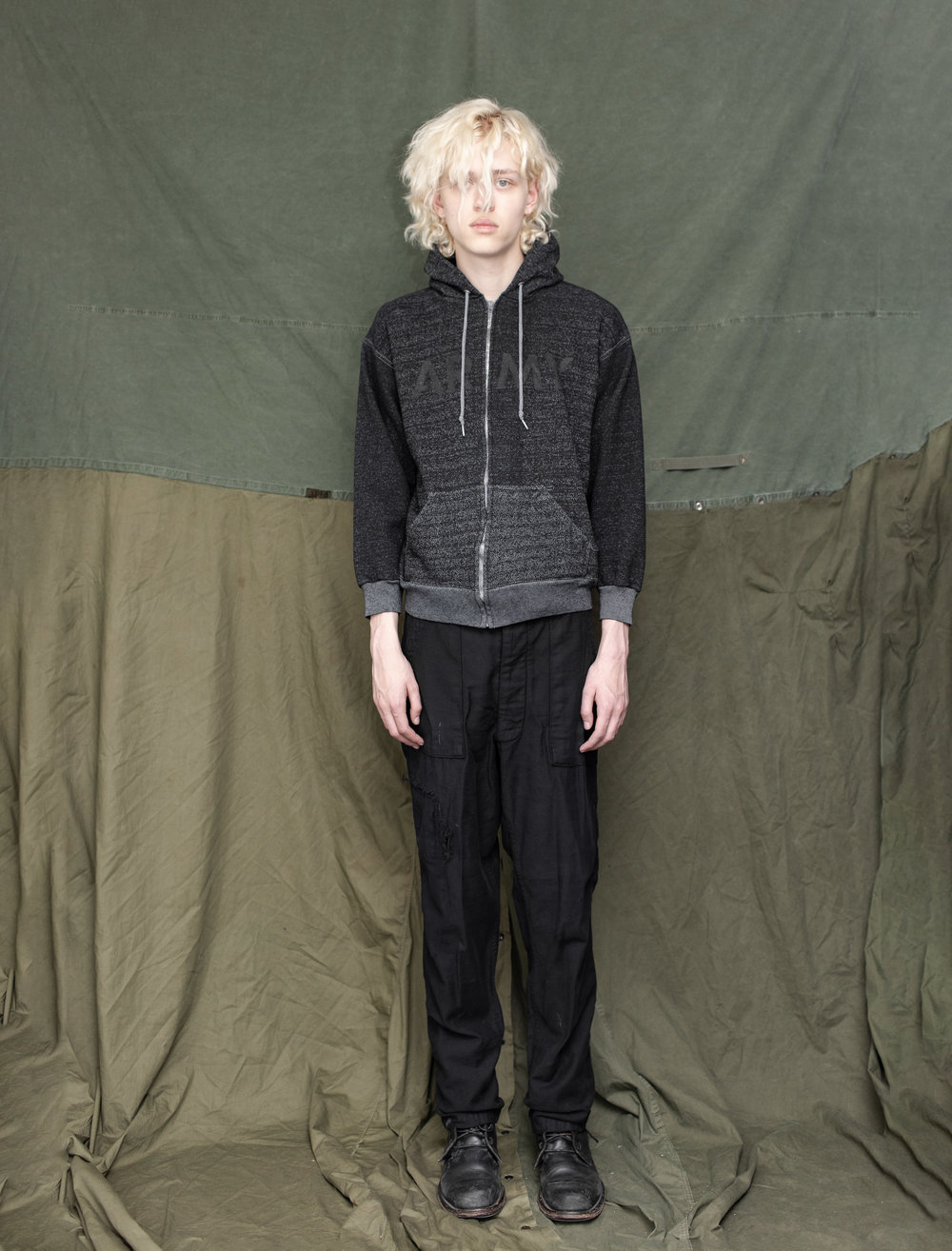 80's US Army Fitness Hoodie 60's US Army Sateen Pants