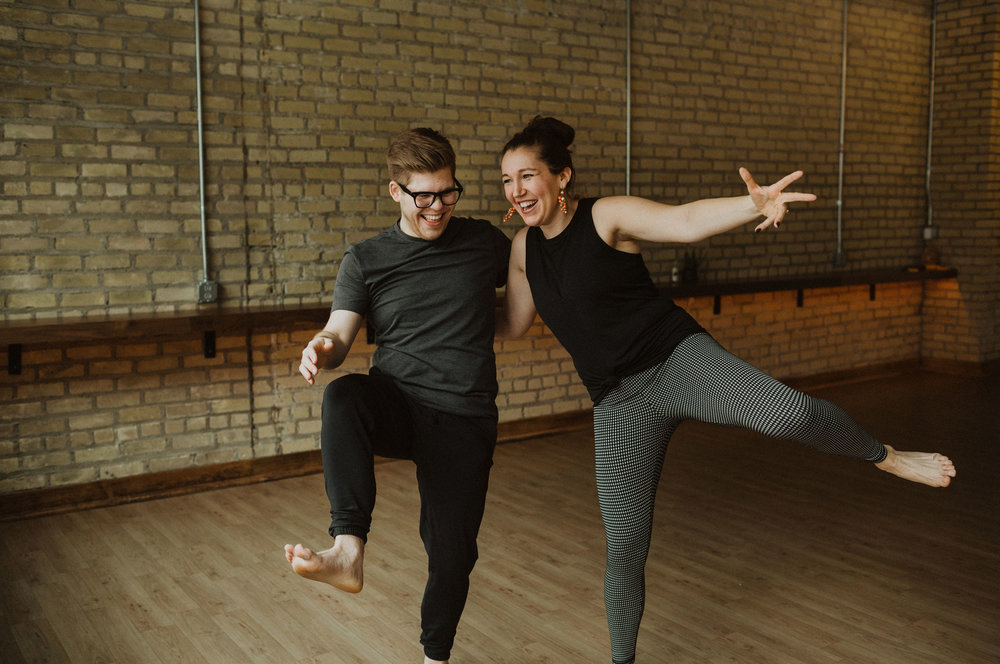 Meet the hosts - yogis + personal development junkies turned friends + co-hosts
