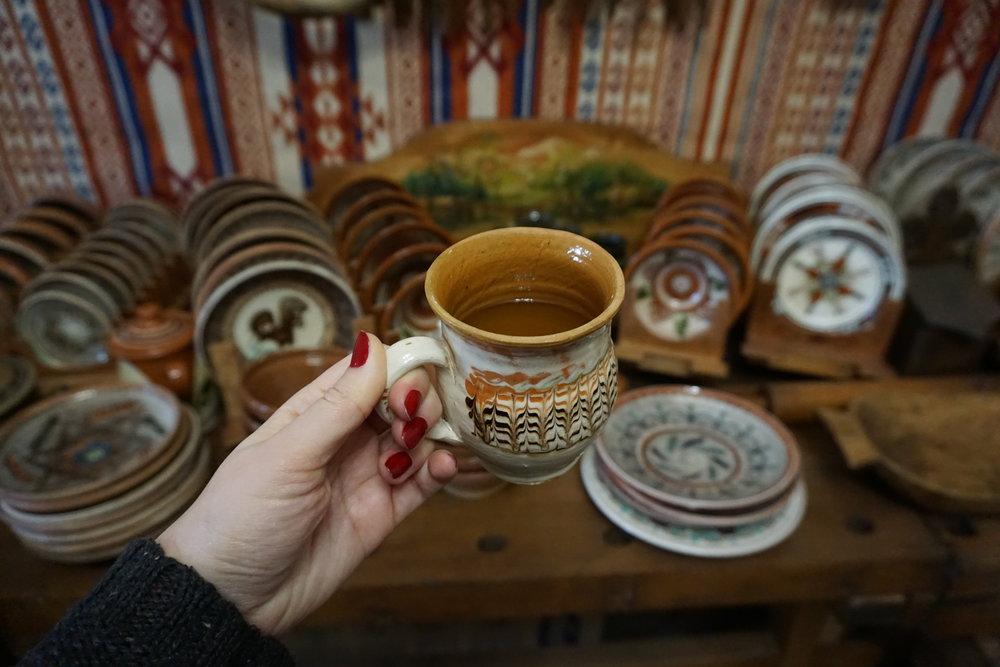 Tuika served in traditional mug.