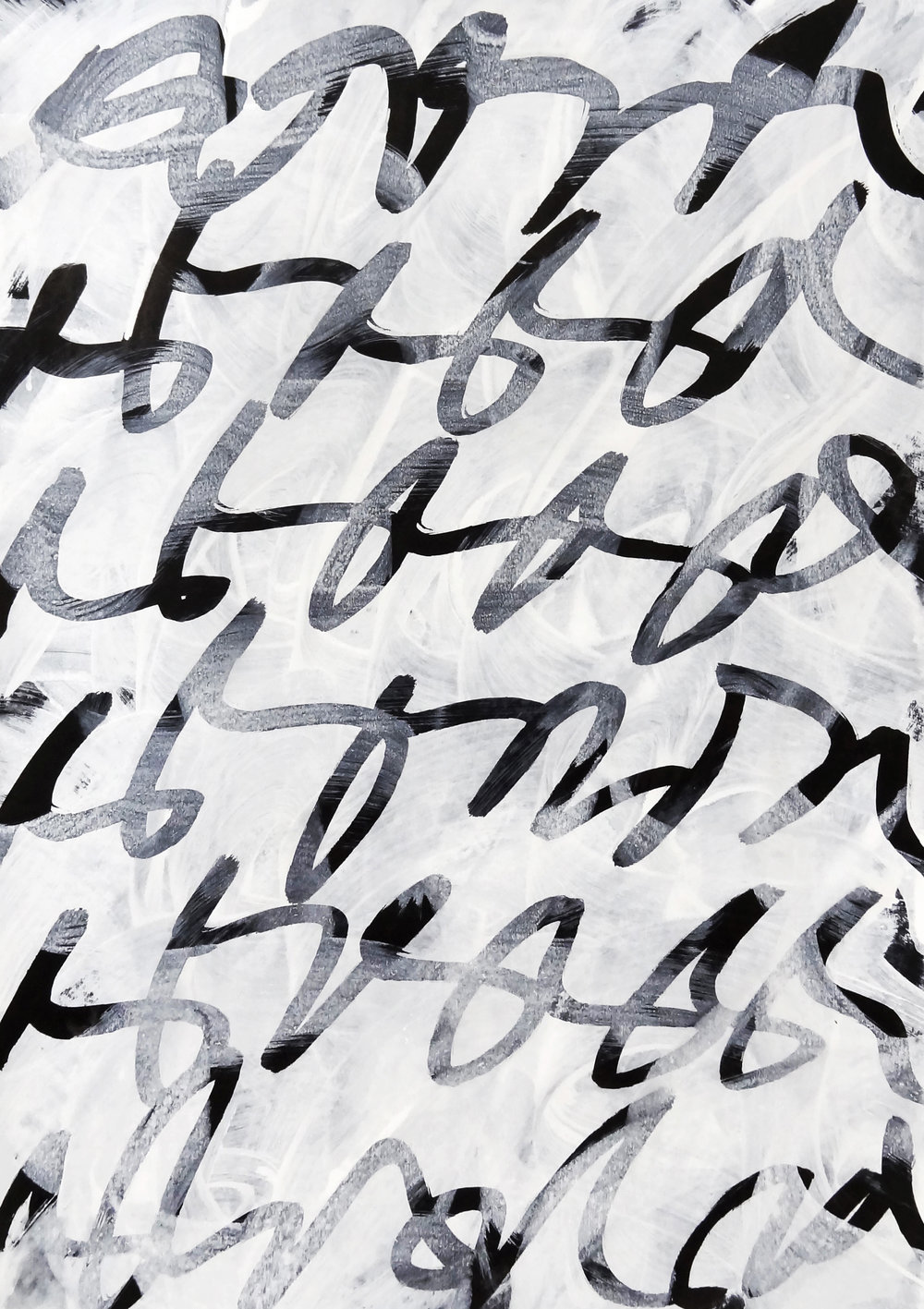 Untitled, 2018 calligraphy ink on paper 42,0 x 29,7 cm (39-18)