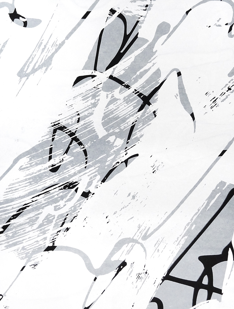 Untitled, 2018 acrylic on paper one-off screenprint 40 x 30 cm (30-18)