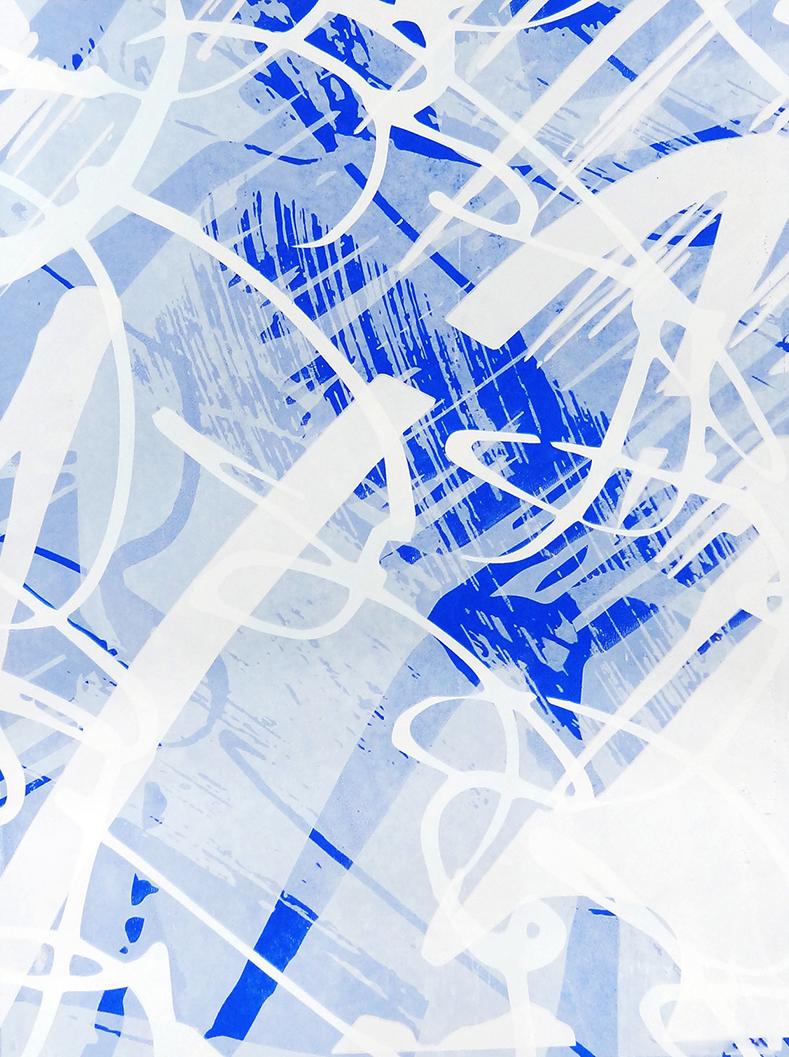 Untitled, 2018 acrylic on paper one-off screenprint 40 x 30 cm (27-18)