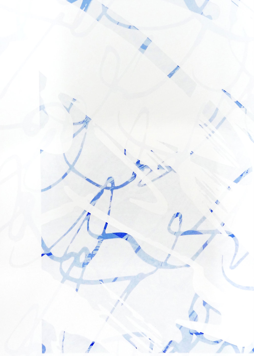 Untitled, 2018 acrylic on paper one-off screenprint 57 x 40 cm (25-18)