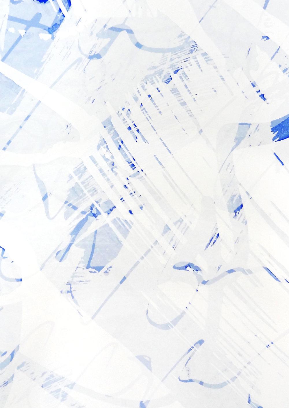 Untitled, 2018 acrylic on paper one-off screenprint 57 x 40 cm (24-18)