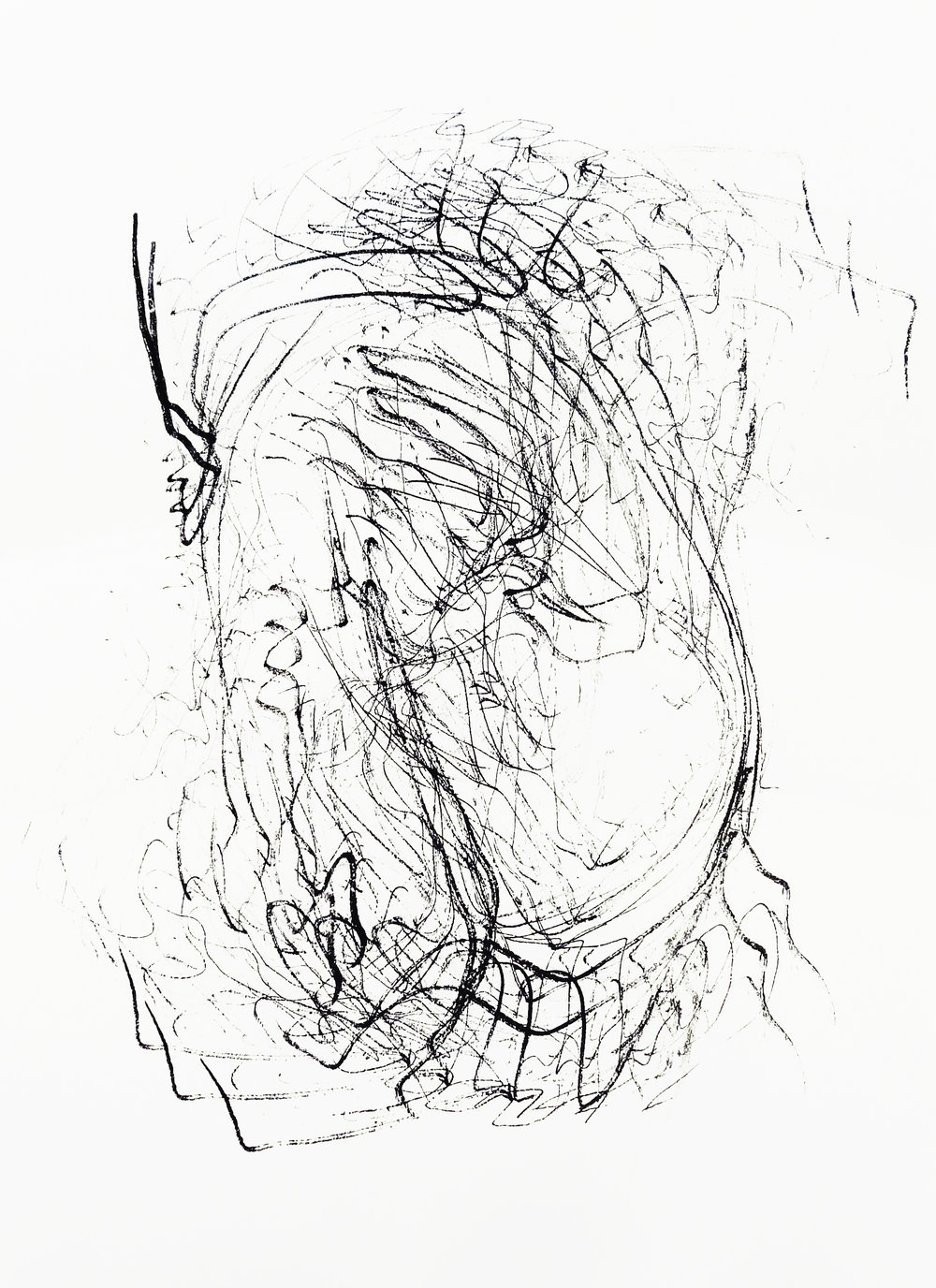 Untitled, 2015 acrylic on paper one-off screenprint 42,0 x 29,7 cm (7-15)