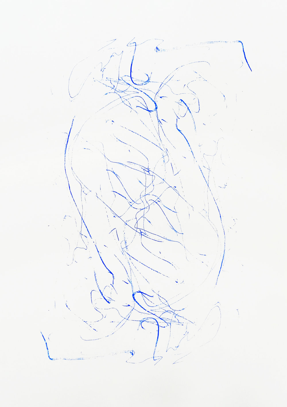Untitled, 2015 acrylic on paper one-off screenprint 42,0 x 29,7 cm (5-15)