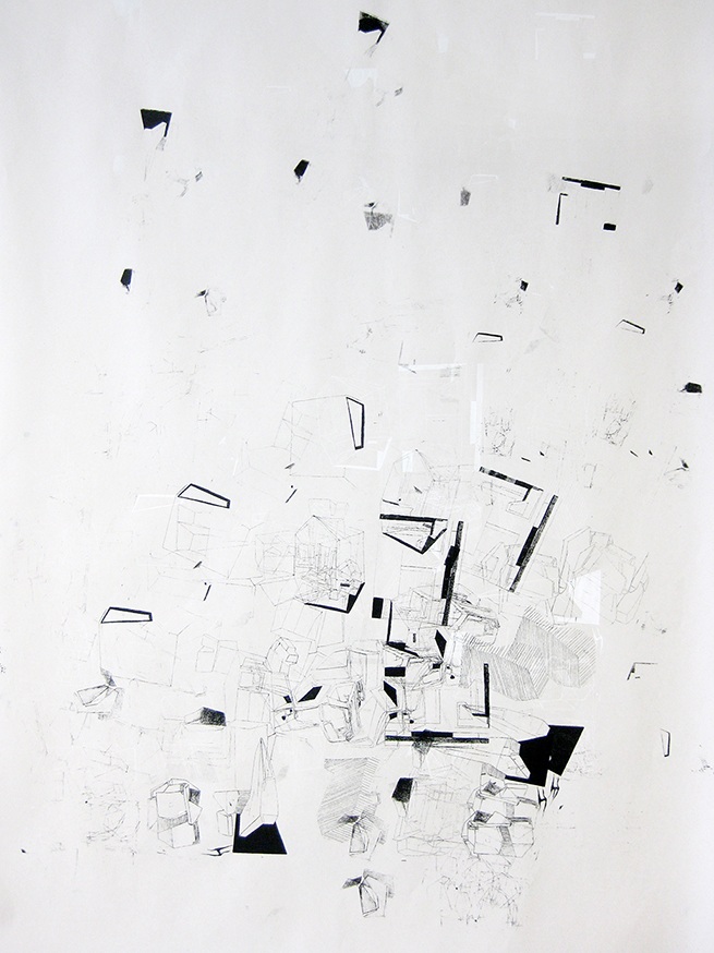 Imaginative Spaces, 2010 acrylic on paper one-off screenprint 84 x 59 cm (10-10)