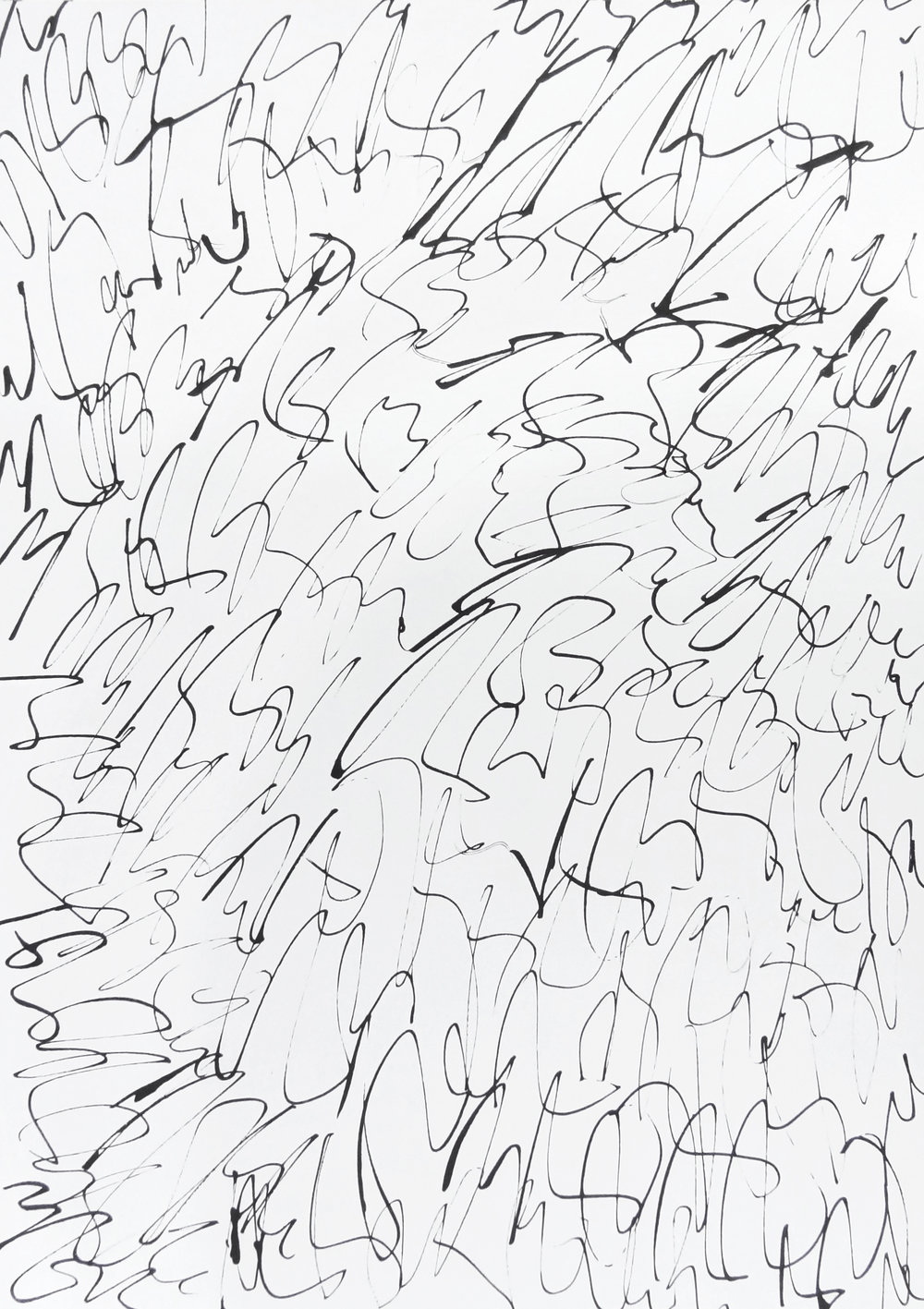 rhythm and flow studies, 2019 calligraphy ink on paper 42,0 x 29,7 cm (6-19)