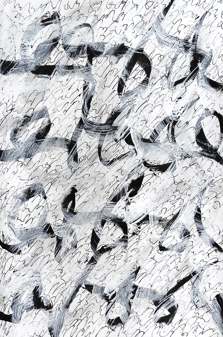 Untitled, 2019 calligraphy ink on paper 100 x 70 cm (3-19)