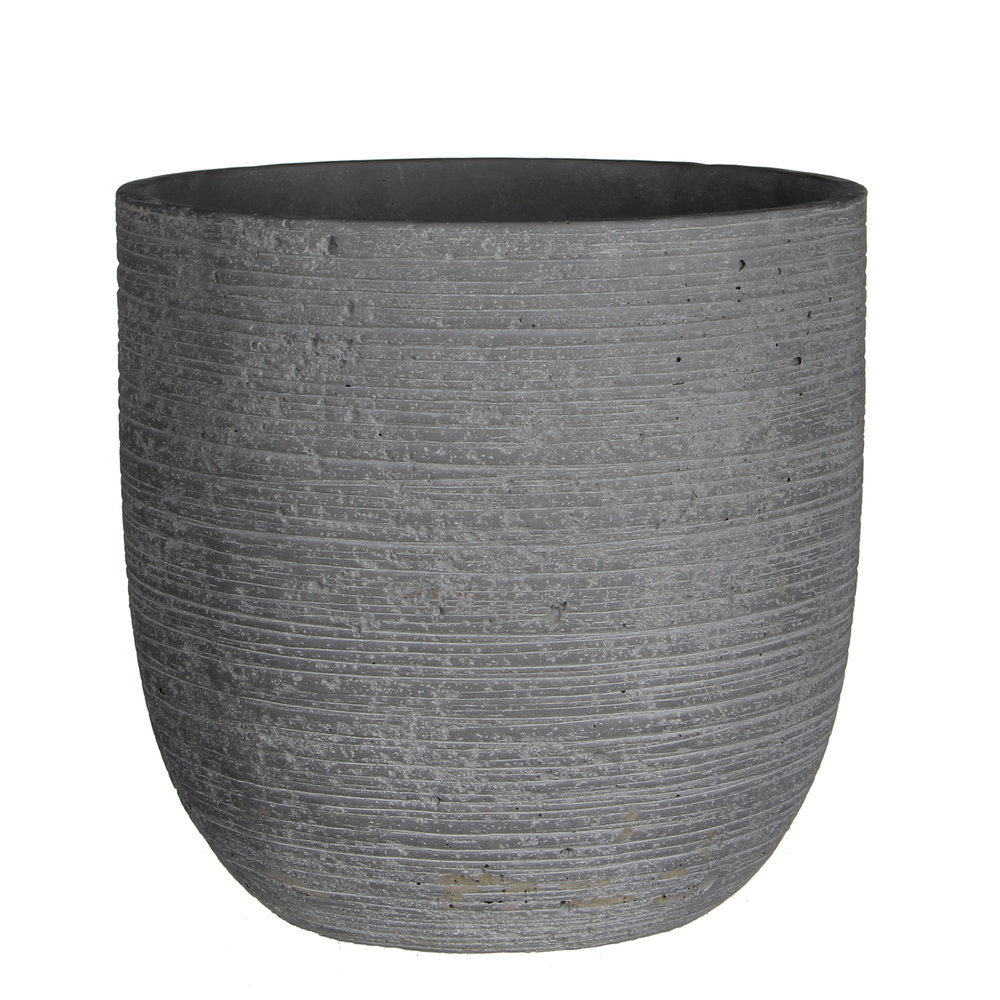 dark concrete indoor plant pot