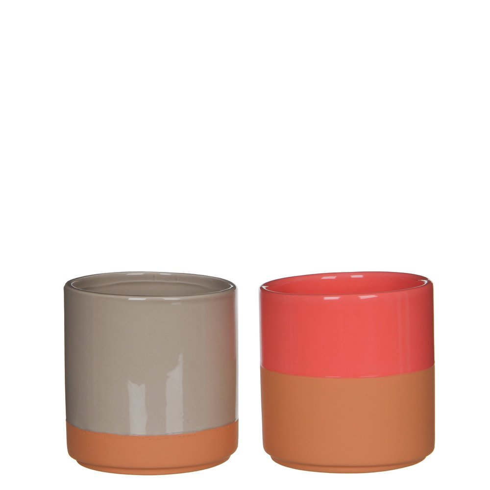 A pair of plant pots