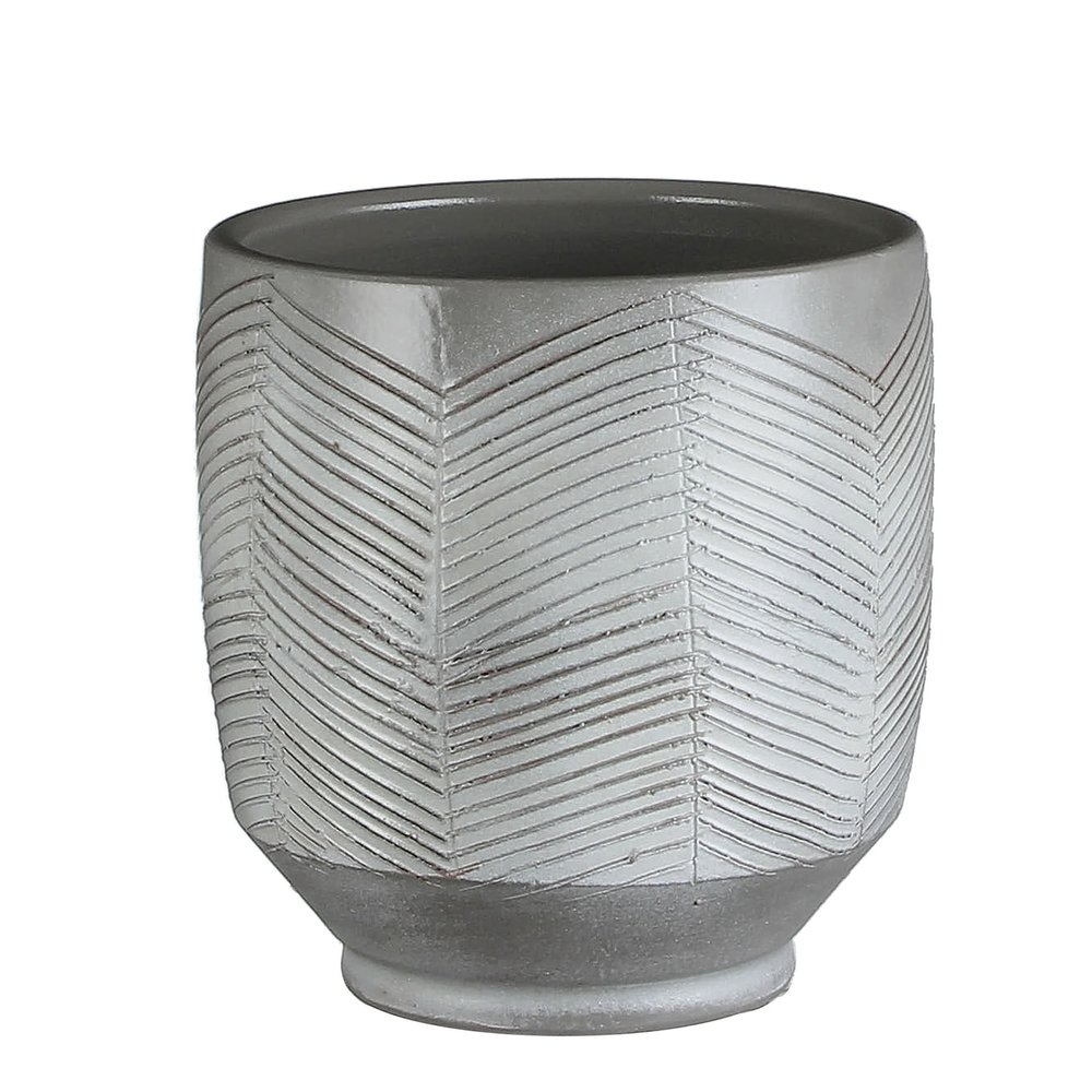 Large Grey Plant Pot