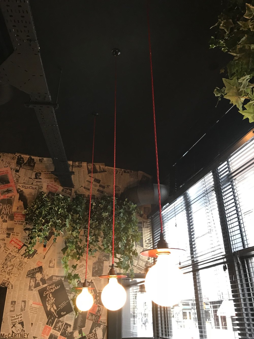 Artificial plant installations in London. Artificial Ivy used in a pub and venue, perfect for plant and foliage impact in spaces where plants couldn't usually live.