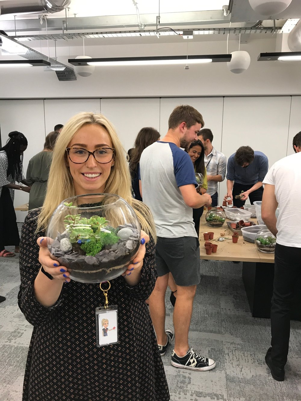 corporate terrarium workshop, terrarium workshop london, terarrium workshop london 2019