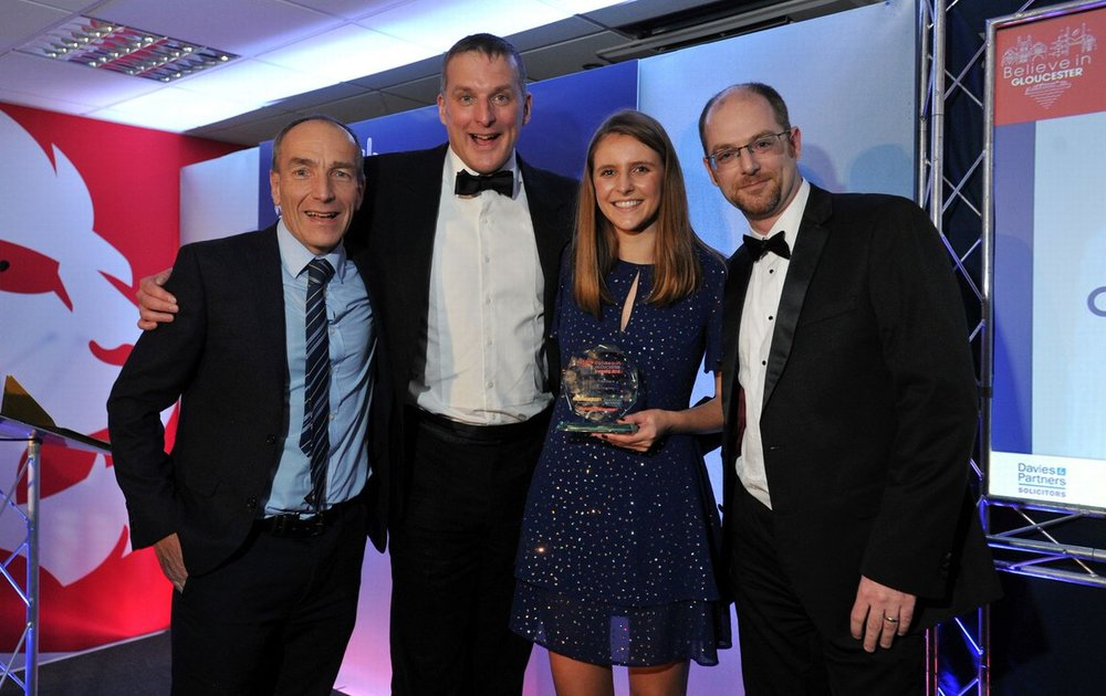 CSA win Business of the Year, Believe in Gloucester Awards November 2018.