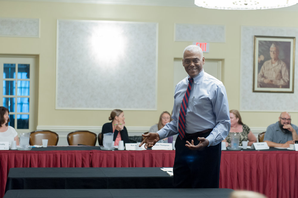 Faculty member Col. Gary Steel (Ret.)
