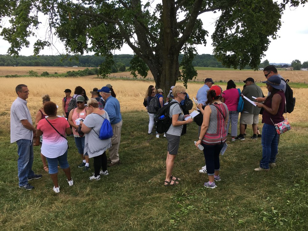 Group of participants during the Gettysburg Leadership Workshop