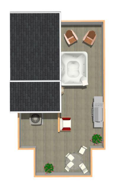 Floorplan Type 1 - Roof Deck