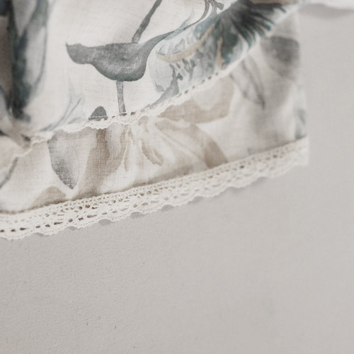 Finish edge with lace -