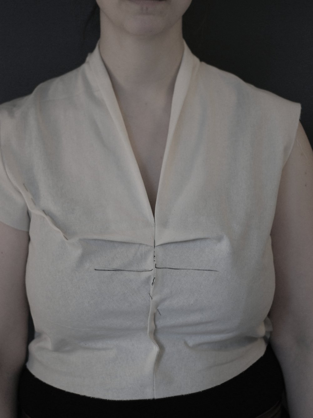 Placement of bust pleat -