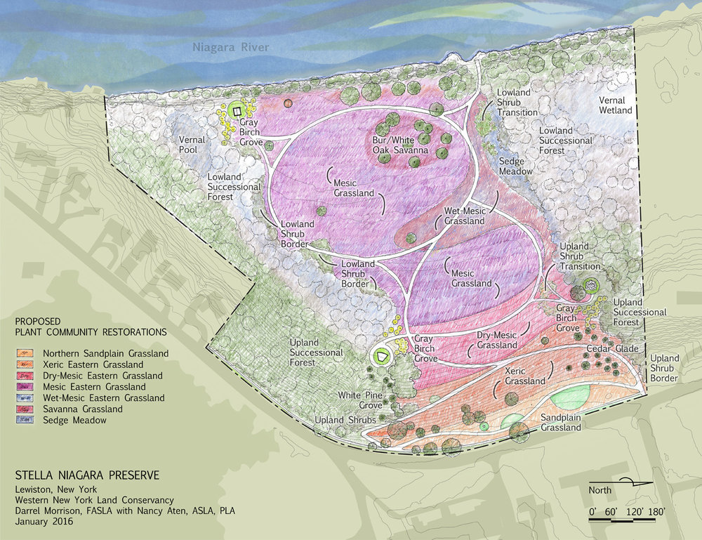 Planned restored plant communities