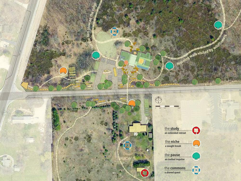Conceptual site/landscape plan