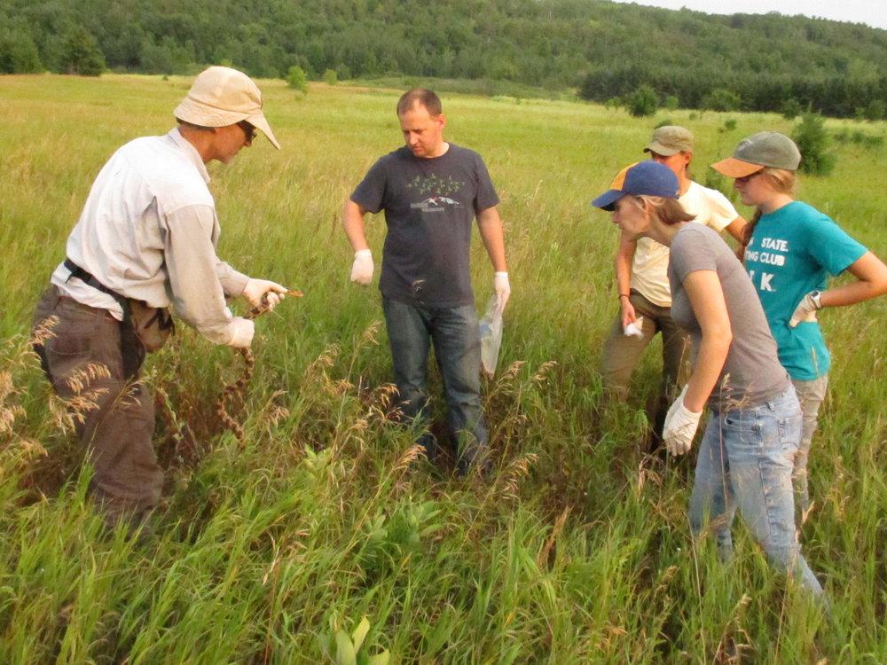 Urban Ecology Center science staff, small mammal survey