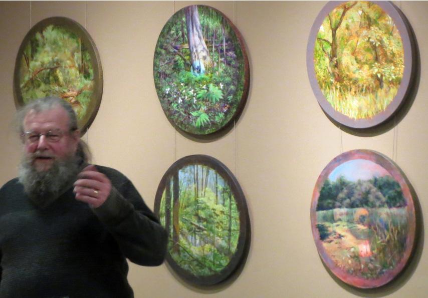 Michael Kutzer and Seminary Woods series (photo: N. Aten)