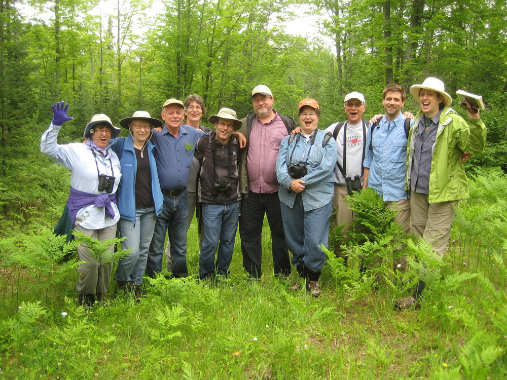 Field class in northern Wisconsin (photo courtesy Betsy A)