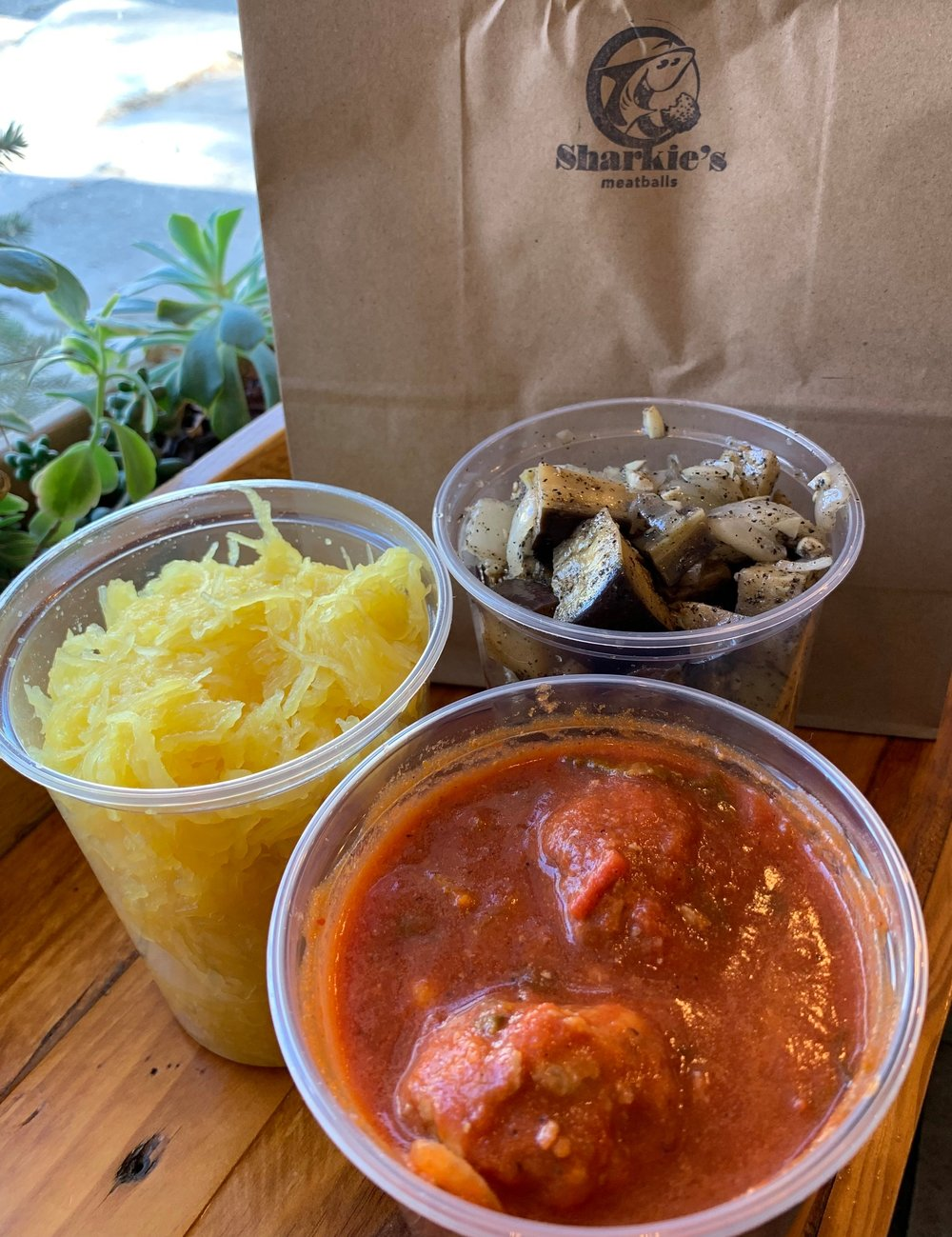 Cold food to take home! - All of our meatballs and veggies are sold cold as well for your convenience.