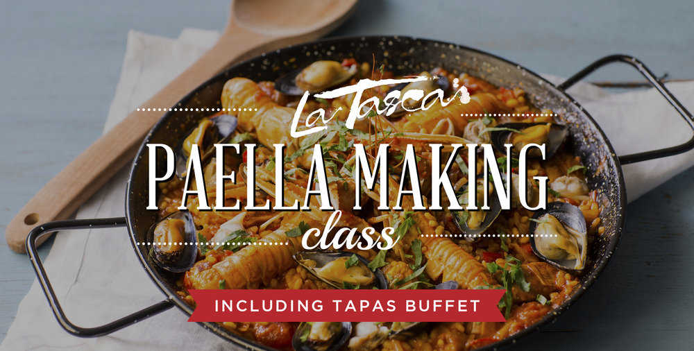 Paella Classes - We host paella making classes at all three of our La Tasca locations.