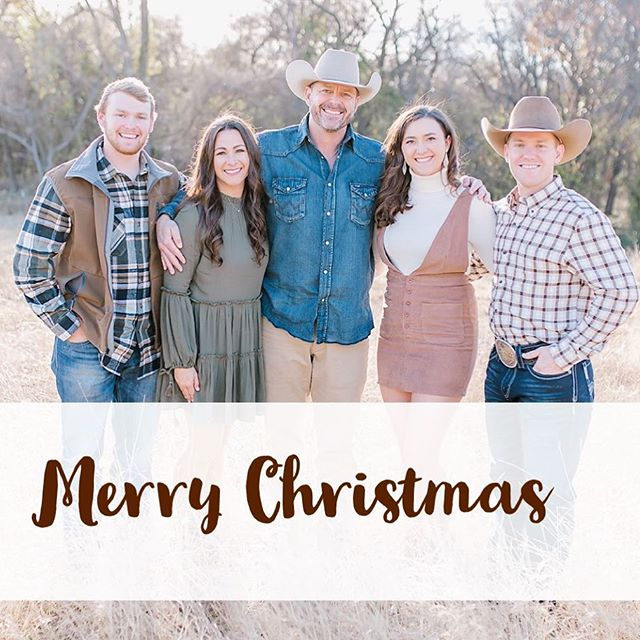 Merry Christmas from our family to yours. Praying blessings over you and yours as you celebrate the birth of our Savior.