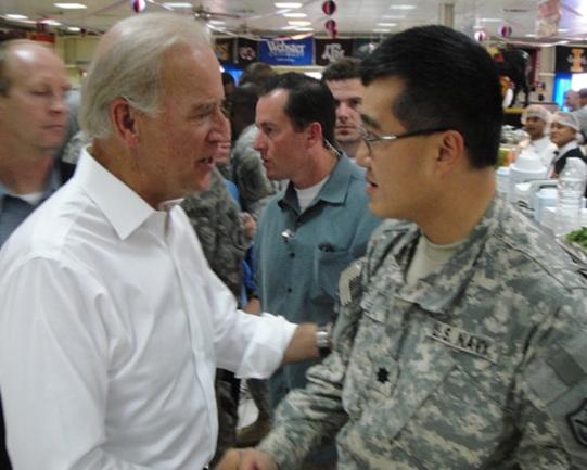 with VP Joe Biden in Iraq