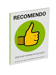 Check out our Recomendo book available in  Paperback  and  PDF