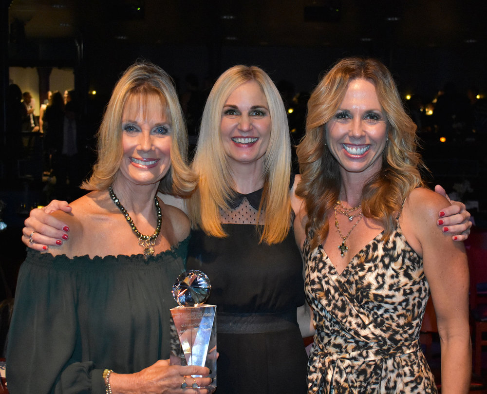 Judi Sheppard Missett (Gus Legacy Honoree, Jazzercise Founder & CEO), Amy P. Giordano (Executive Director Gus Legacy Foundation), Shanna Missett Nelson (President Jazzercise, Inc)