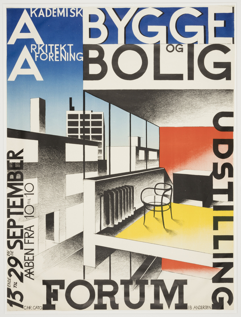 An exhibition poster designed by IB Andersen in the collection of the Cooper Hewitt Smithsonian Design Museum  (Courtesy and all rights the artist and Cooper Hewitt)