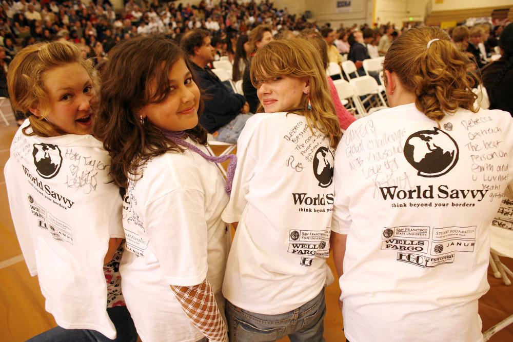 Students in the World Savvy public school program