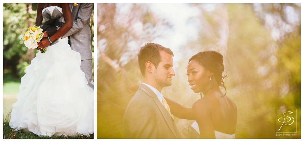 Bridal Portraits by Elbow River in Woods Park Calgary