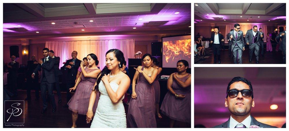 Bridal Party dancing entrance at Executive Royal Inn Calgary